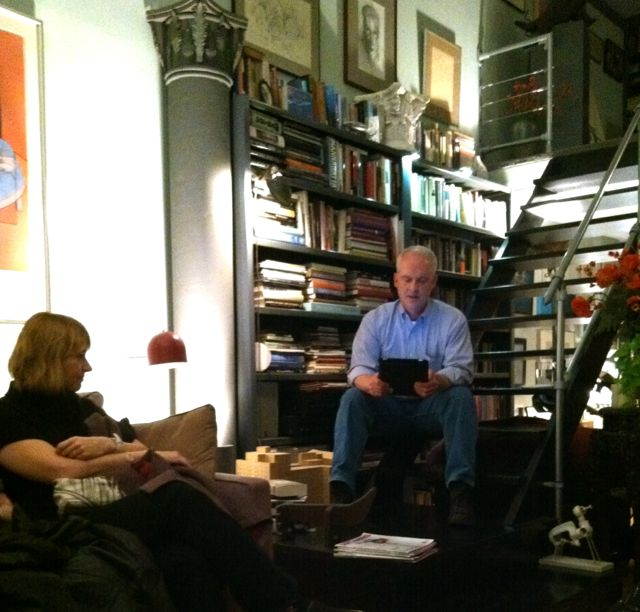 Stephen Stark reading in Jack Dowling's apartment