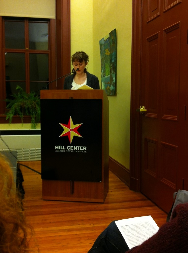 alyson foster reading at the hill center 12-02-2012
